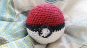 Pokeball Captured in Yarn