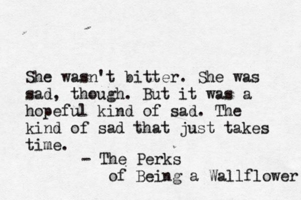 Perks of Being a Wallflower....