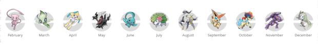 Legendary Event Pokemon tracker