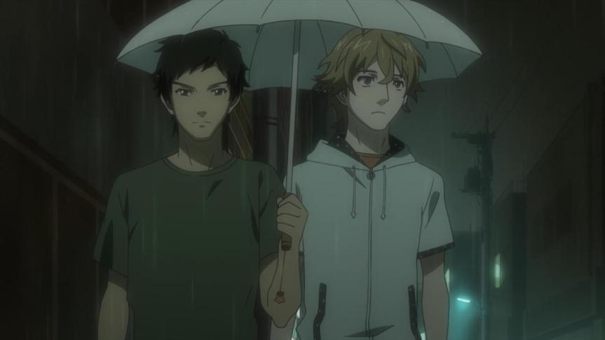 samurai_flamenco-02-goto-hazama-umbrella-raining-sharing-friendship-together.jpg