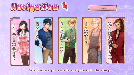 Love Spell Blerdy Otome Review Character Select